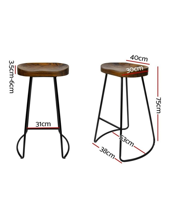 4x Vintage Tractor Bar Stools Retro Bar Stool Industrial Chairs Black 75cm image 2