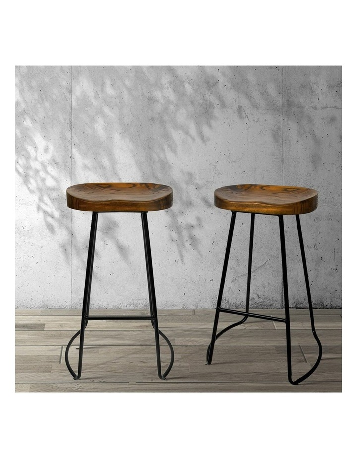 4x Vintage Tractor Bar Stools Retro Bar Stool Industrial Chairs Black 75cm image 3