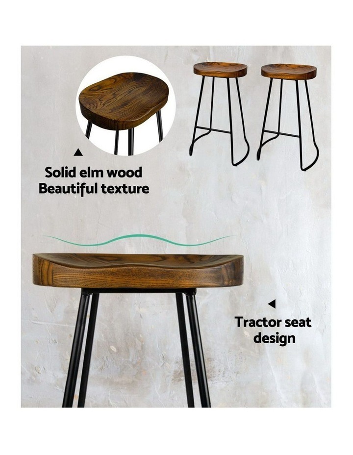 4x Vintage Tractor Bar Stools Retro Bar Stool Industrial Chairs Black 75cm image 6