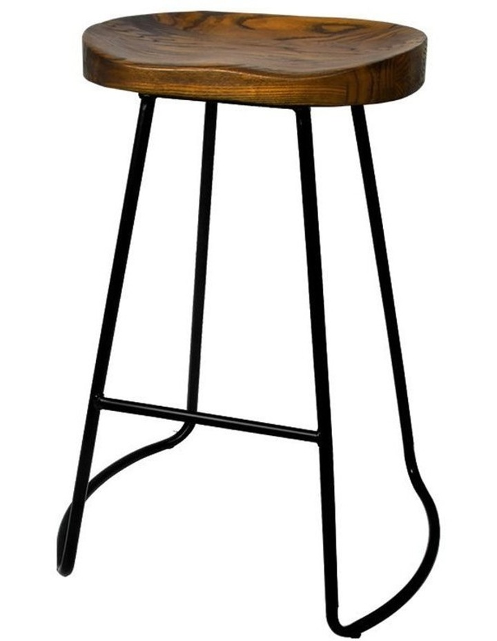 4x Vintage Tractor Bar Stools Retro Bar Stool Industrial Chairs Black 65c image 1