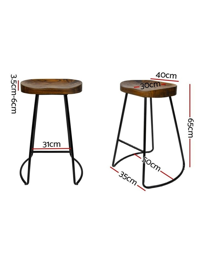 4x Vintage Tractor Bar Stools Retro Bar Stool Industrial Chairs Black 65c image 2