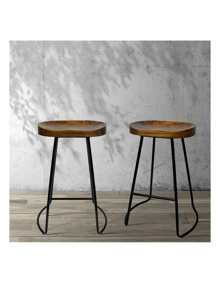 4x Vintage Tractor Bar Stools Retro Bar Stool Industrial Chairs Black 65c image 3