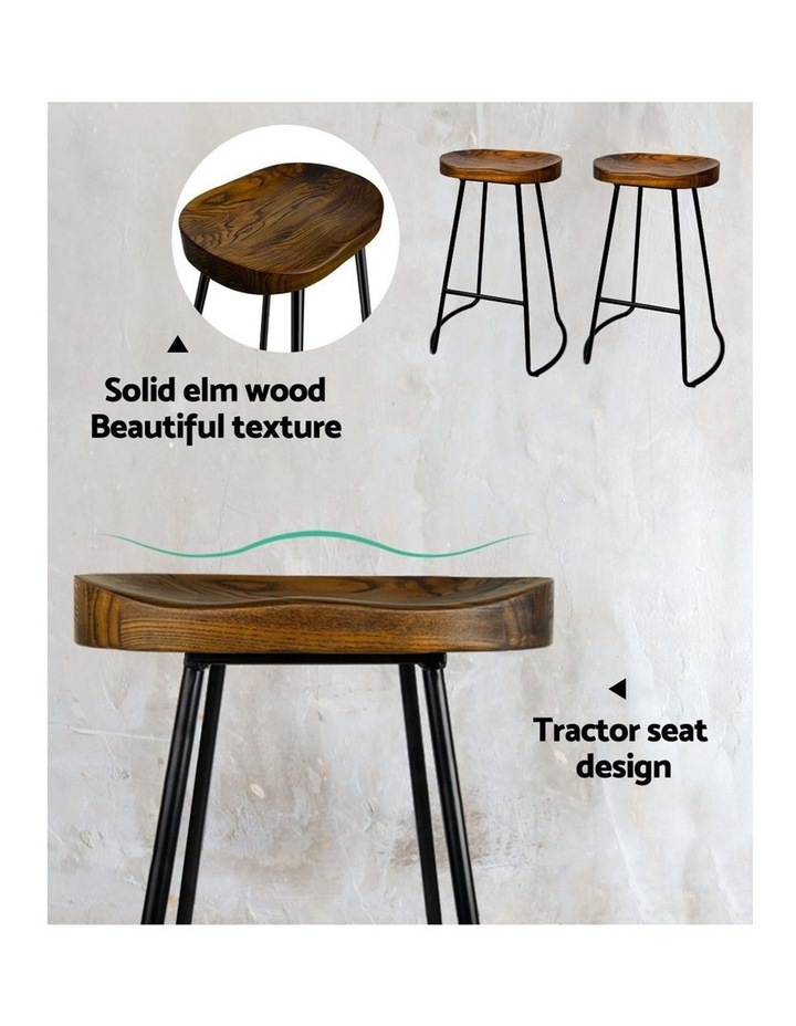 4x Vintage Tractor Bar Stools Retro Bar Stool Industrial Chairs Black 65c image 6