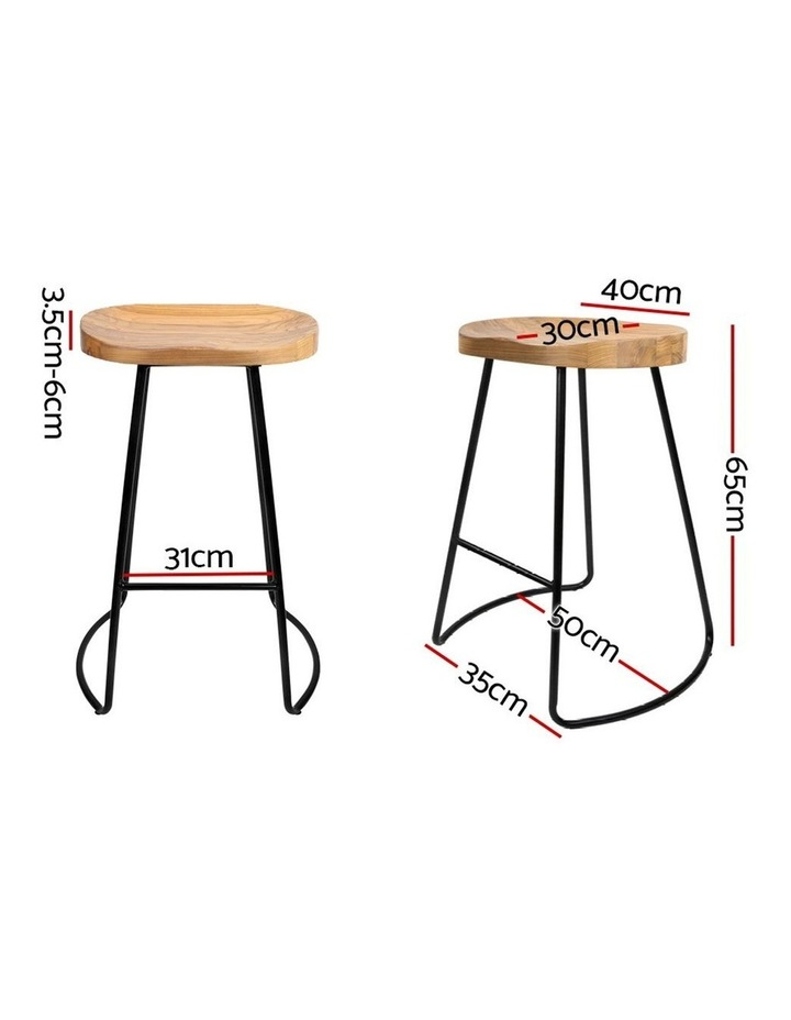 4x Vintage Tractor Bar Stools Retro Bar Stool Industrial Chairs 65cm image 2