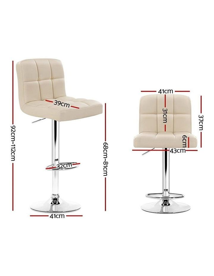 4x Leather Bar Stools NOEL Kitchen Chairs Swivel Bar Stool Gas Lift Beige image 2
