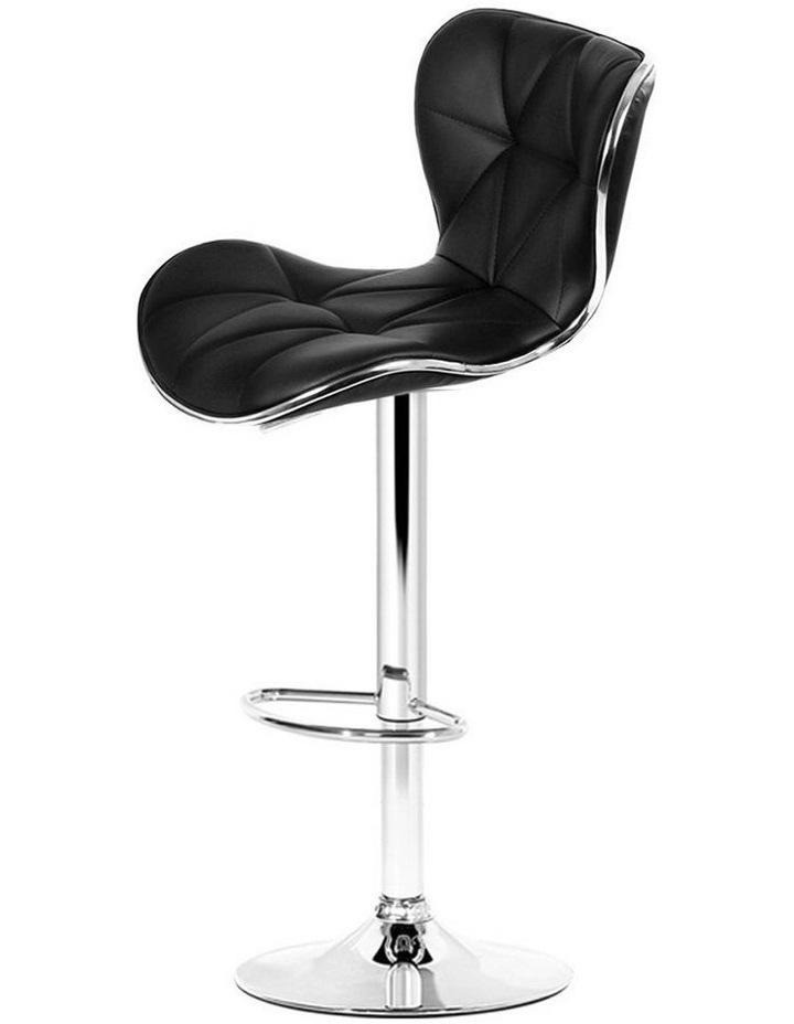 4x Bar Stools RUBY Kitchen Swivel Bar Stool Leather Chairs Gas Lift Black image 1