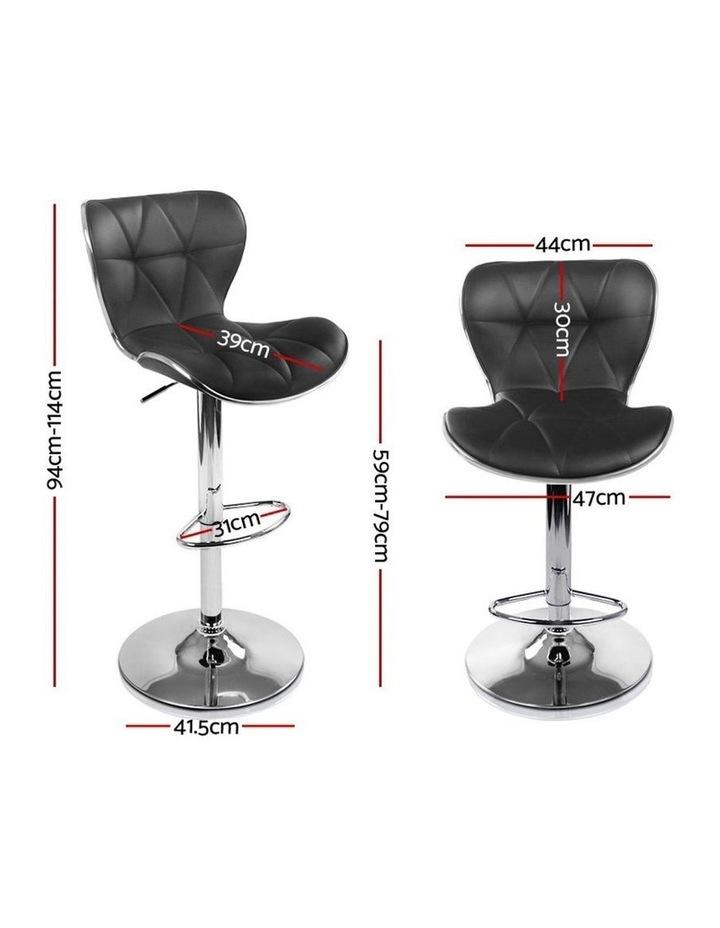 4x Bar Stools RUBY Kitchen Swivel Bar Stool Leather Chairs Gas Lift Black image 2