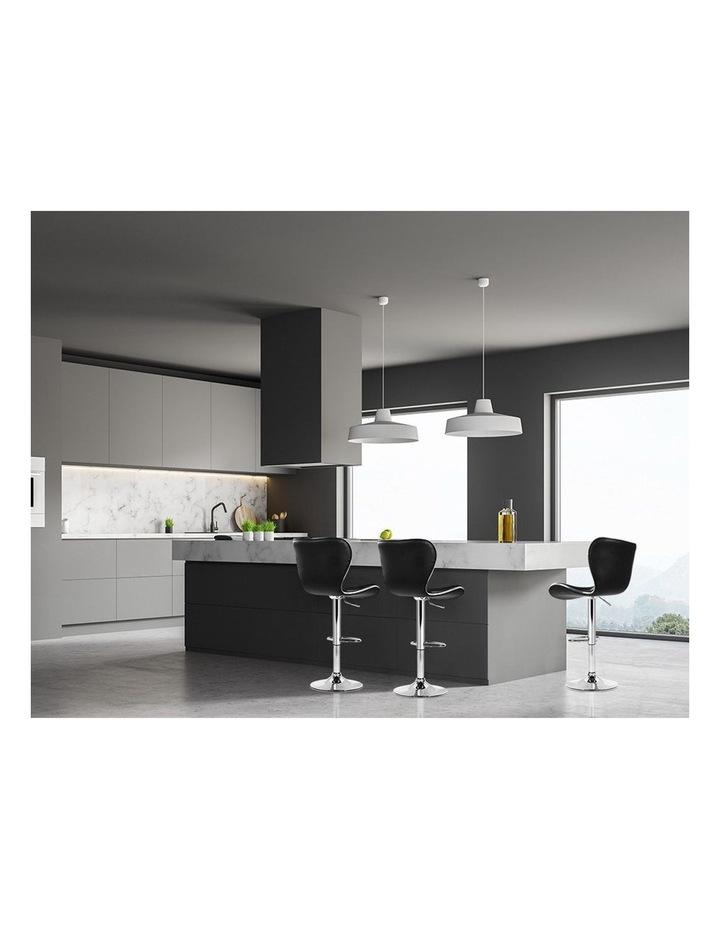 4x Bar Stools RUBY Kitchen Swivel Bar Stool Leather Chairs Gas Lift Black image 3