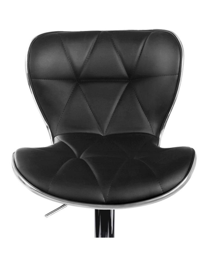 4x Bar Stools RUBY Kitchen Swivel Bar Stool Leather Chairs Gas Lift Black image 4