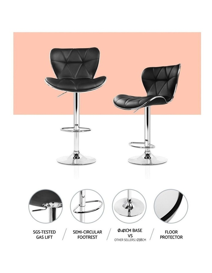 4x Bar Stools RUBY Kitchen Swivel Bar Stool Leather Chairs Gas Lift Black image 5