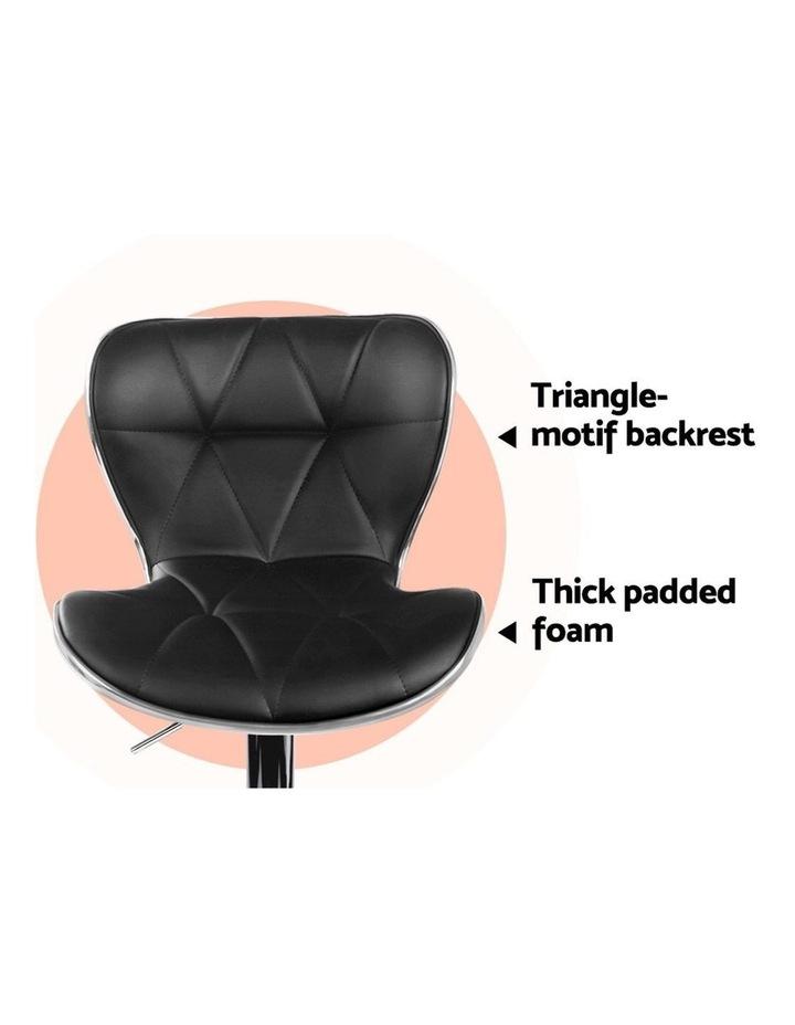 4x Bar Stools RUBY Kitchen Swivel Bar Stool Leather Chairs Gas Lift Black image 7