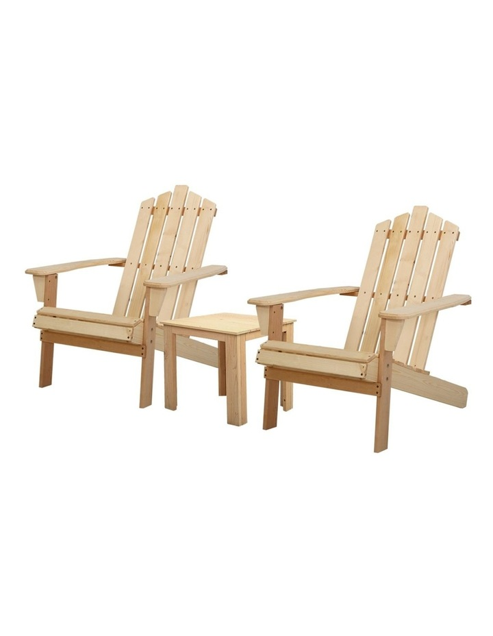 Outdoor Sun Lounge Beach Chairs Table Setting Wooden Adirondack Patio Natural Wood Chair image 1