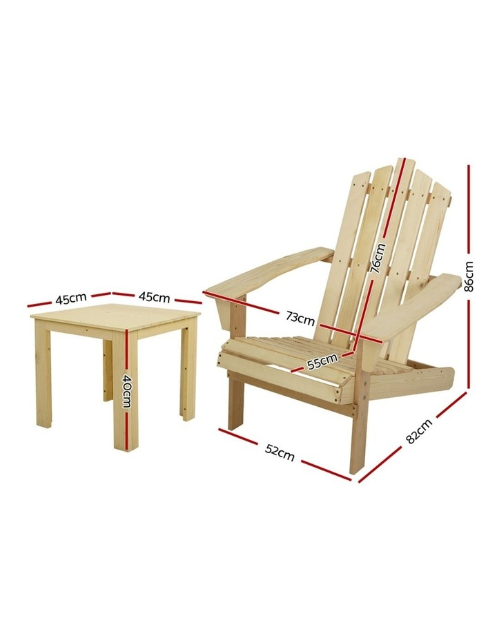 Outdoor Sun Lounge Beach Chairs Table Setting Wooden Adirondack Patio Natural Wood Chair image 2