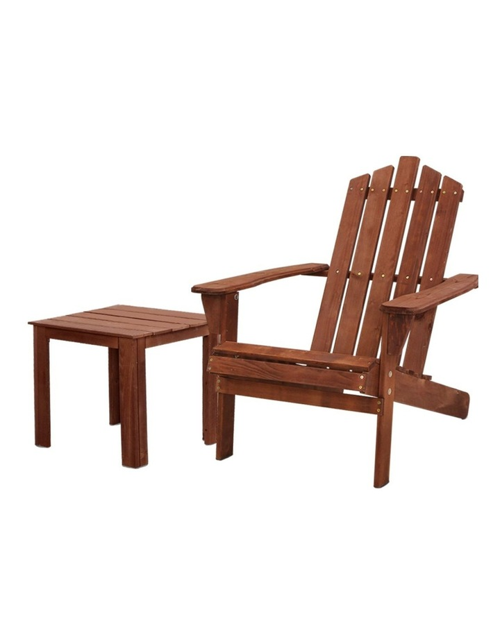 Outdoor Sun Lounge Beach Chairs Table Setting Wooden Adirondack Patio Lounges Chair image 1