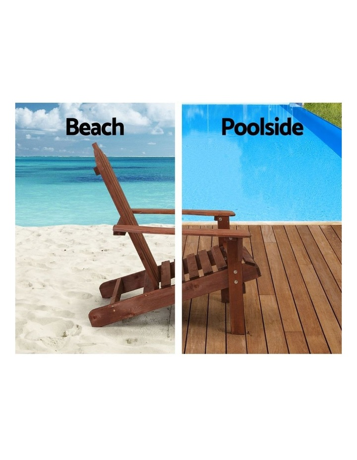 Outdoor Sun Lounge Beach Chairs Table Setting Wooden Adirondack Patio Lounges Chair image 5