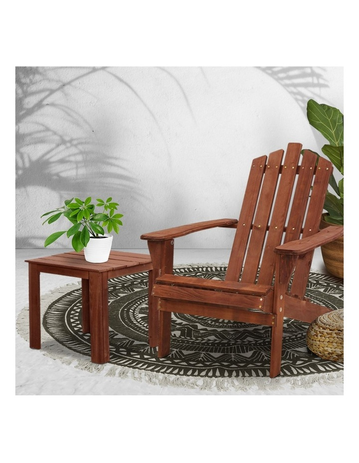Outdoor Sun Lounge Beach Chairs Table Setting Wooden Adirondack Patio Lounges Chair image 6