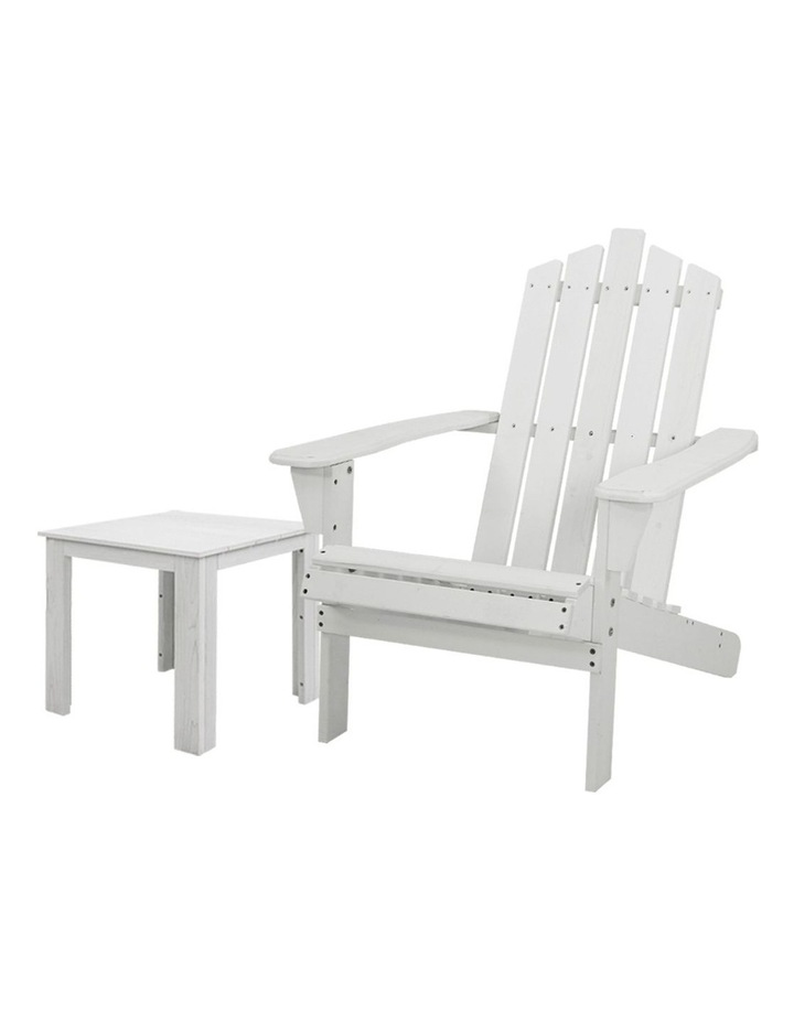 Outdoor Sun Lounge Beach Chairs Table Setting Wooden Adirondack Patio Chair Lounges image 1