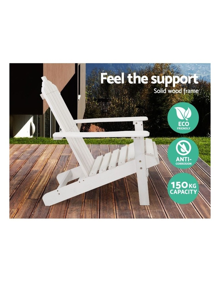 Outdoor Sun Lounge Beach Chairs Table Setting Wooden Adirondack Patio Chair Lounges image 3