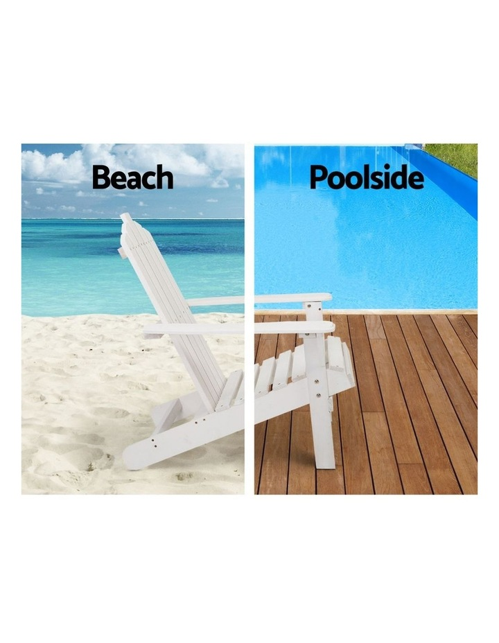 Outdoor Sun Lounge Beach Chairs Table Setting Wooden Adirondack Patio Chair Lounges image 5