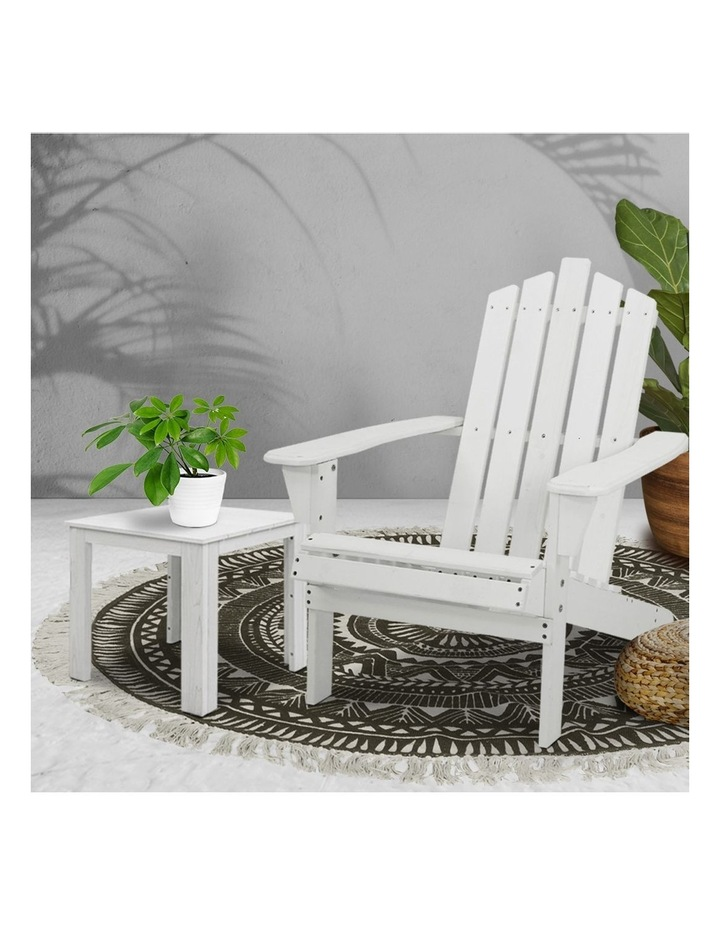 Outdoor Sun Lounge Beach Chairs Table Setting Wooden Adirondack Patio Chair Lounges image 6