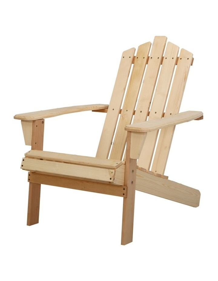 Outdoor Sun Lounge Beach Chairs Table Setting Wooden Adirondack Patio Chair image 1