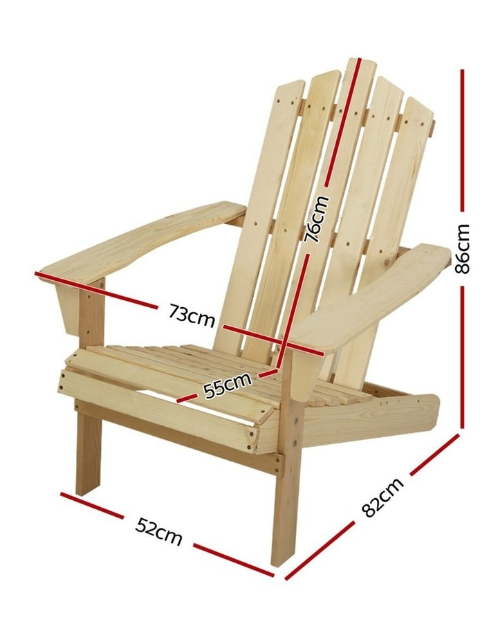 Outdoor Sun Lounge Beach Chairs Table Setting Wooden Adirondack Patio Chair image 2
