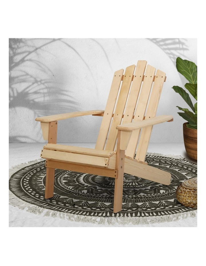 Outdoor Sun Lounge Beach Chairs Table Setting Wooden Adirondack Patio Chair image 5