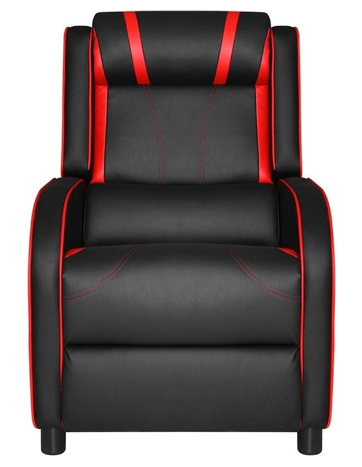 Recliner Chair Gaming Racing Armchair Lounge Sofa Chairs Leather Black image 3