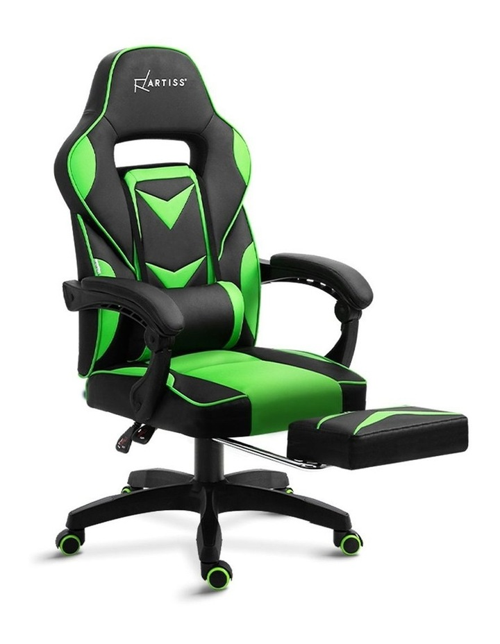 Office Chair Computer Desk Gaming Chair Study Home Work Recliner Black Green image 1