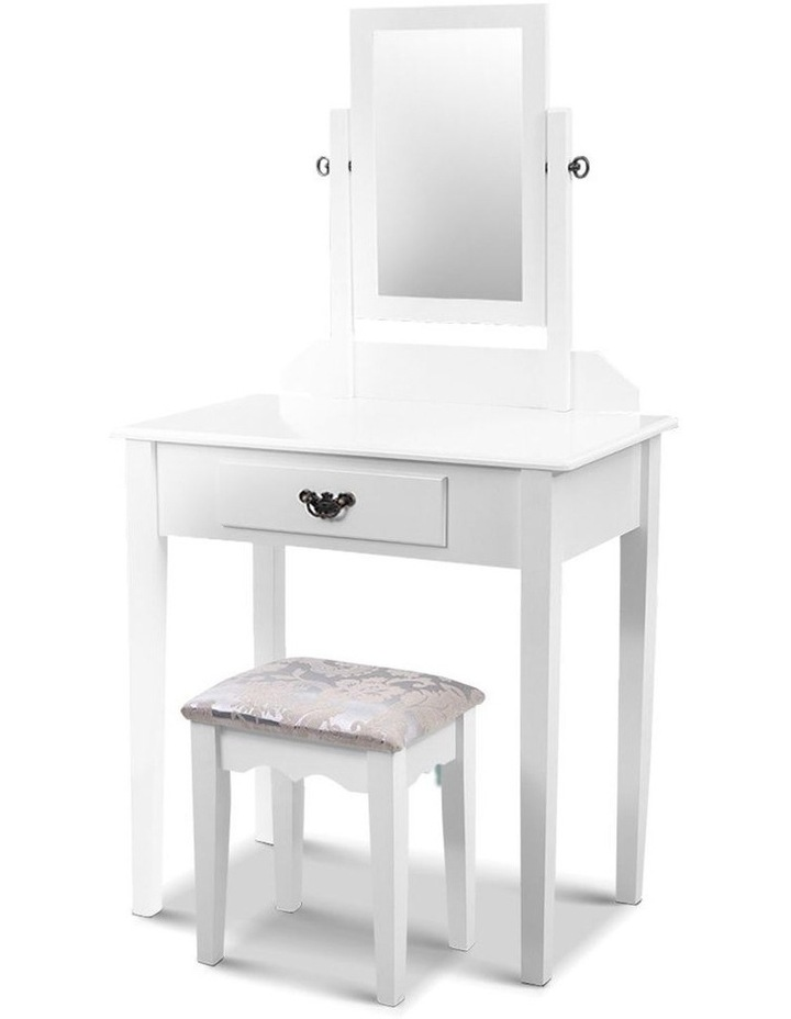 Artiss Dressing Table Stool Set Makeup Mirror Jewellery Cabinet Drawer Organizer image 1
