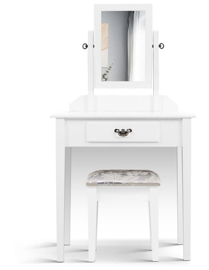 Artiss Dressing Table Stool Set Makeup Mirror Jewellery Cabinet Drawer Organizer image 3