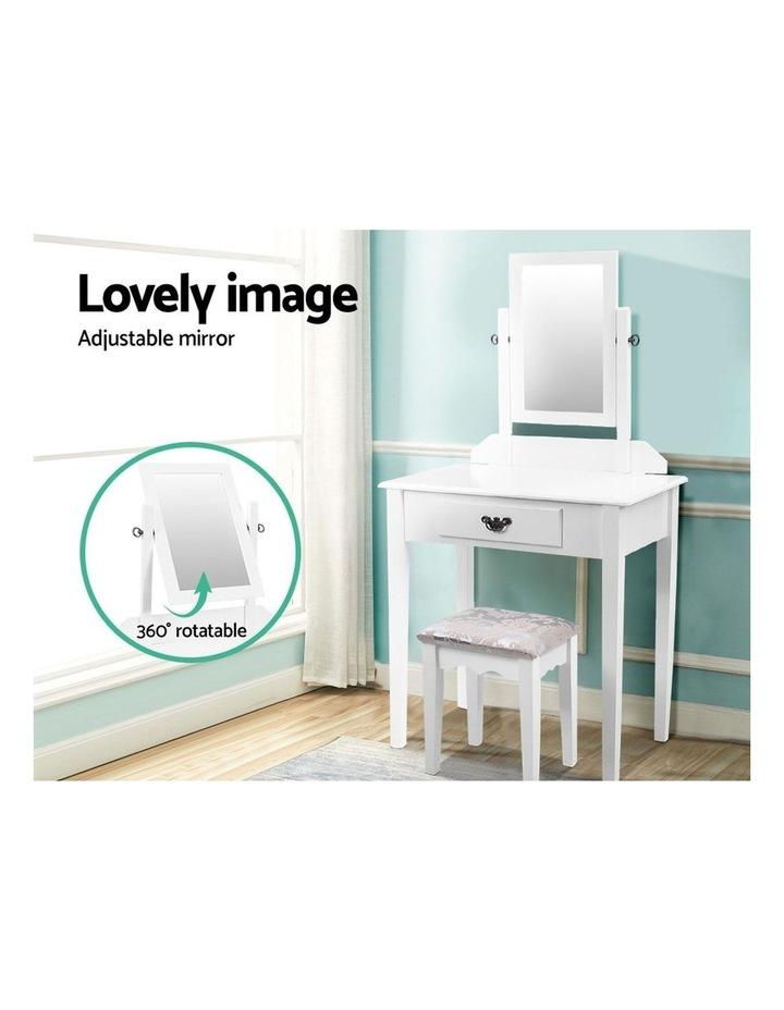 Artiss Dressing Table Stool Set Makeup Mirror Jewellery Cabinet Drawer Organizer image 4