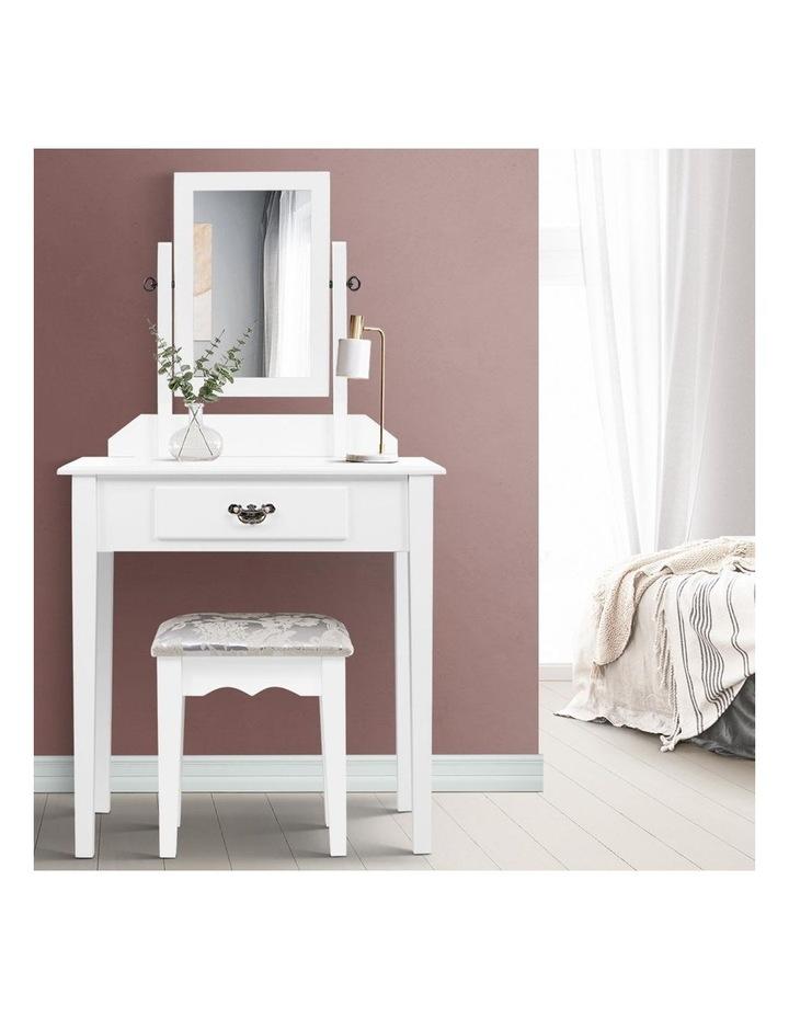 Artiss Dressing Table Stool Set Makeup Mirror Jewellery Cabinet Drawer Organizer image 6