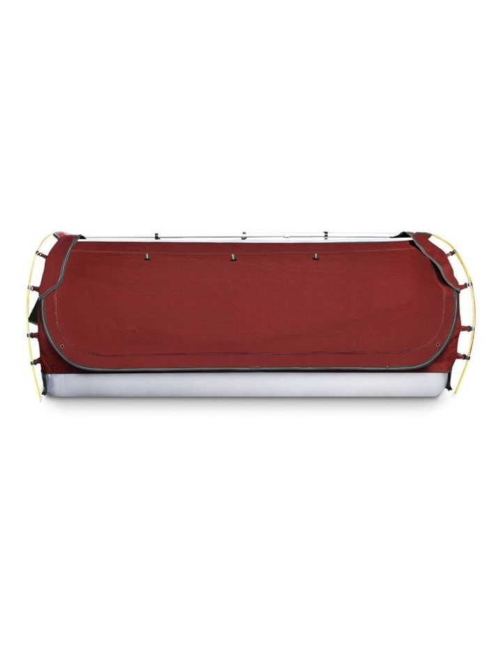 Camping Tent Double Size in Red with 7cm Mattress image 4