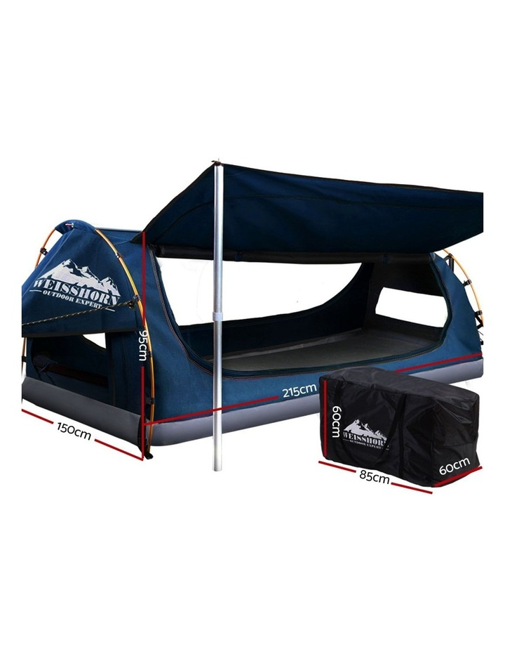 Camping Tent Double Size in Dark Blue with 7cm Mattress image 2