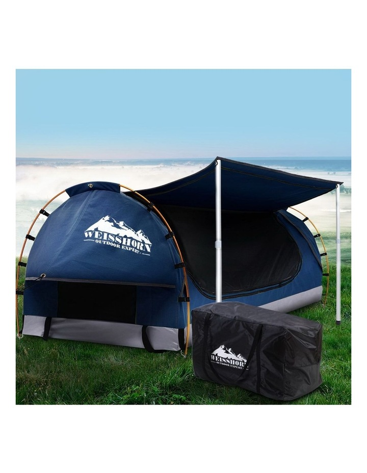 Camping Tent Double Size in Dark Blue with 7cm Mattress image 3