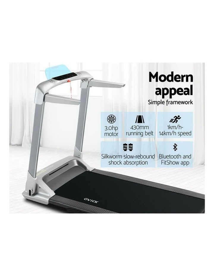 OVICX Electric Treadmill Q2S Home Gym Exercise Machine Fitness Equipment Compact Full Foldable Silver image 5