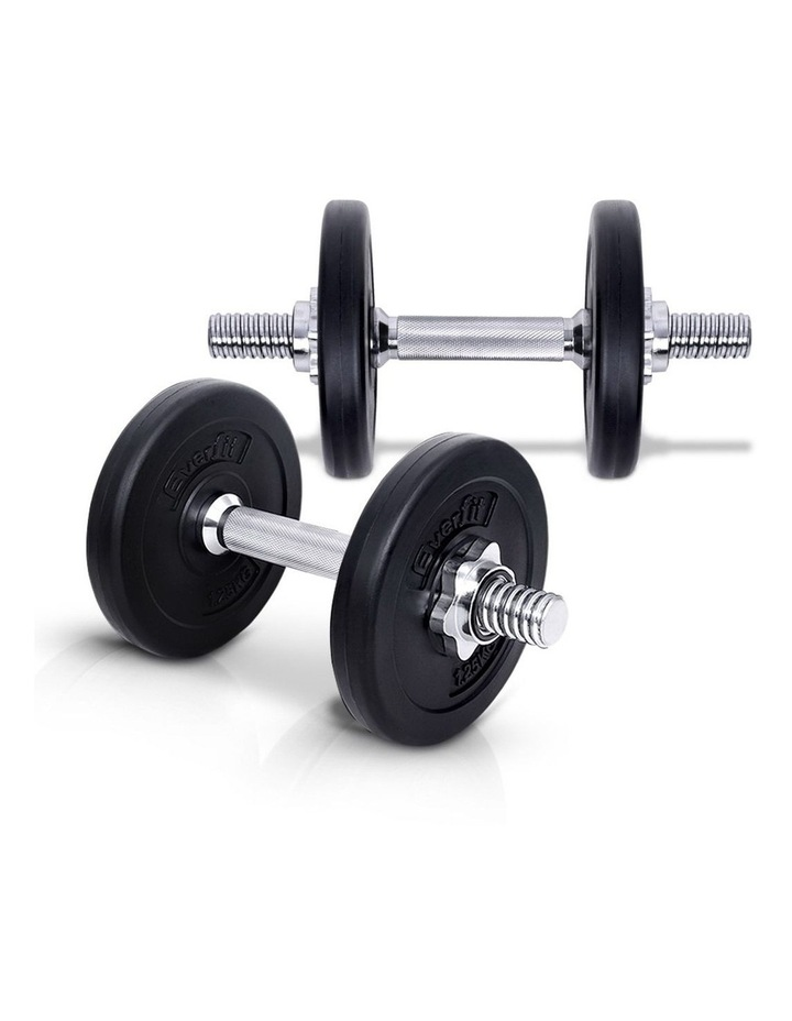 10KG Dumbbell Set Weight Dumbbells Plates Home Gym Fitness Exercise image 1