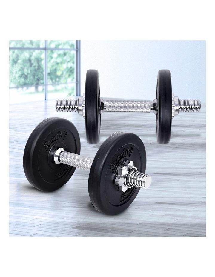 10KG Dumbbell Set Weight Dumbbells Plates Home Gym Fitness Exercise image 3