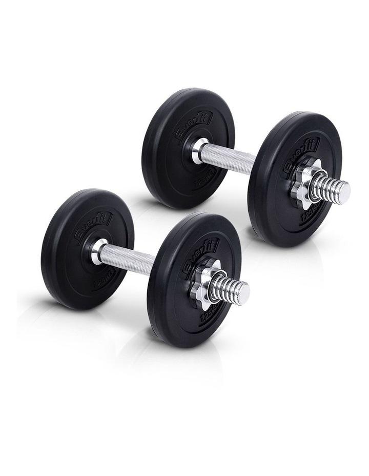 10KG Dumbbell Set Weight Dumbbells Plates Home Gym Fitness Exercise image 4