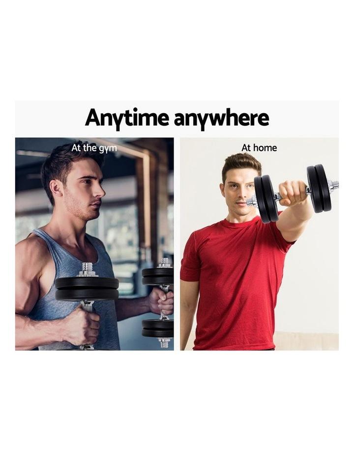 10KG Dumbbell Set Weight Dumbbells Plates Home Gym Fitness Exercise image 7
