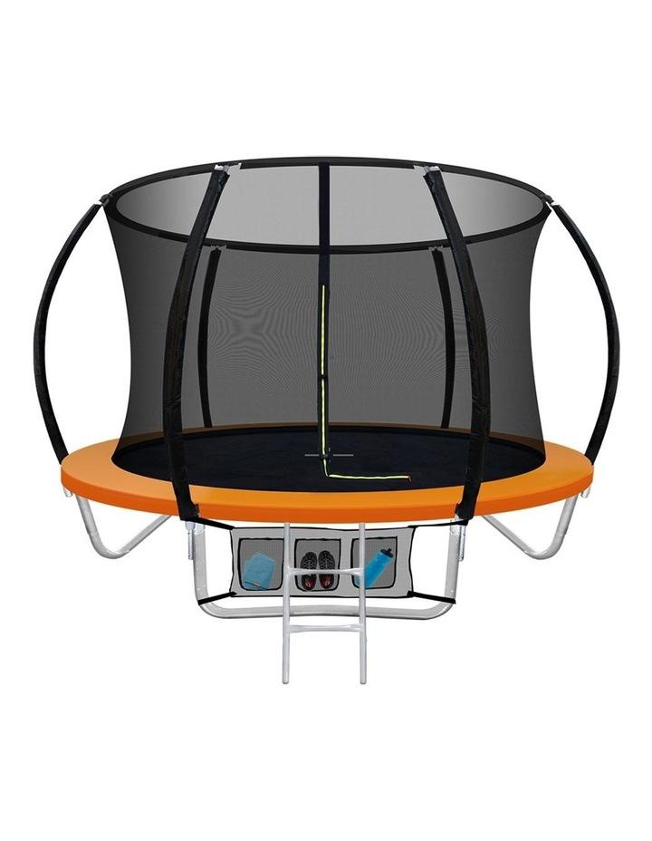 8FT Trampoline Round Trampolines Kids Present Gift Enclosure Safety Net Pad Outdoor Orange image 1