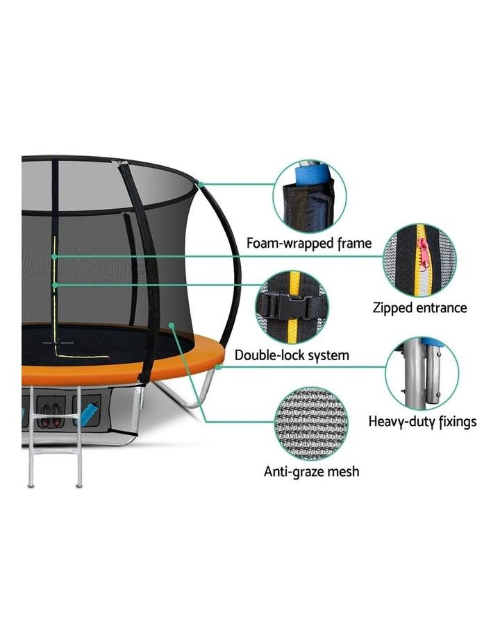 8FT Trampoline Round Trampolines Kids Present Gift Enclosure Safety Net Pad Outdoor Orange image 7