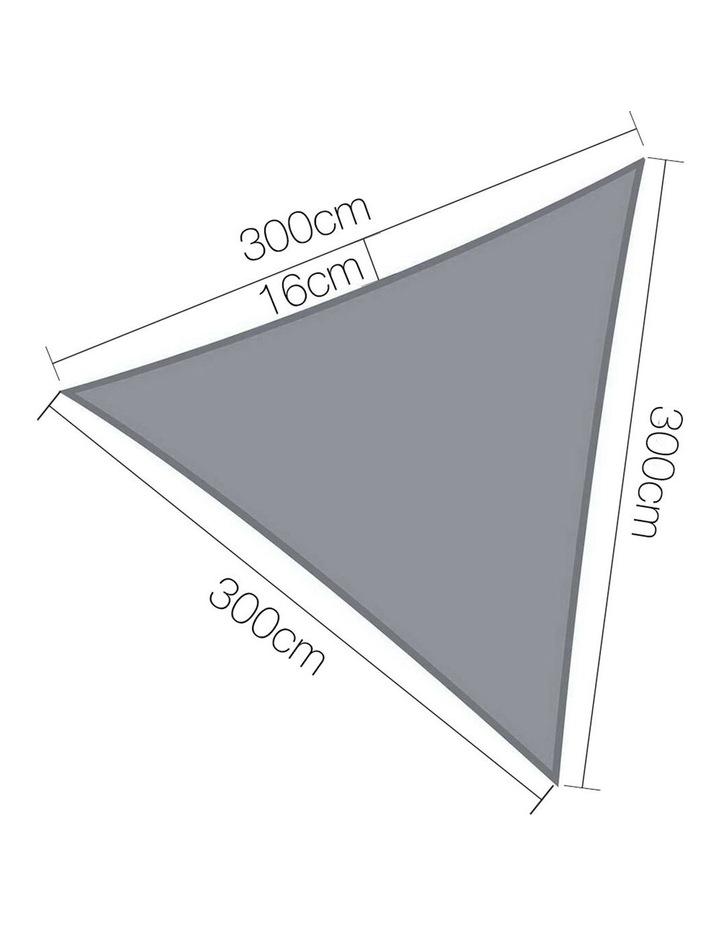 3m 280GSM Triangle Sail Sun Shade in Grey image 1