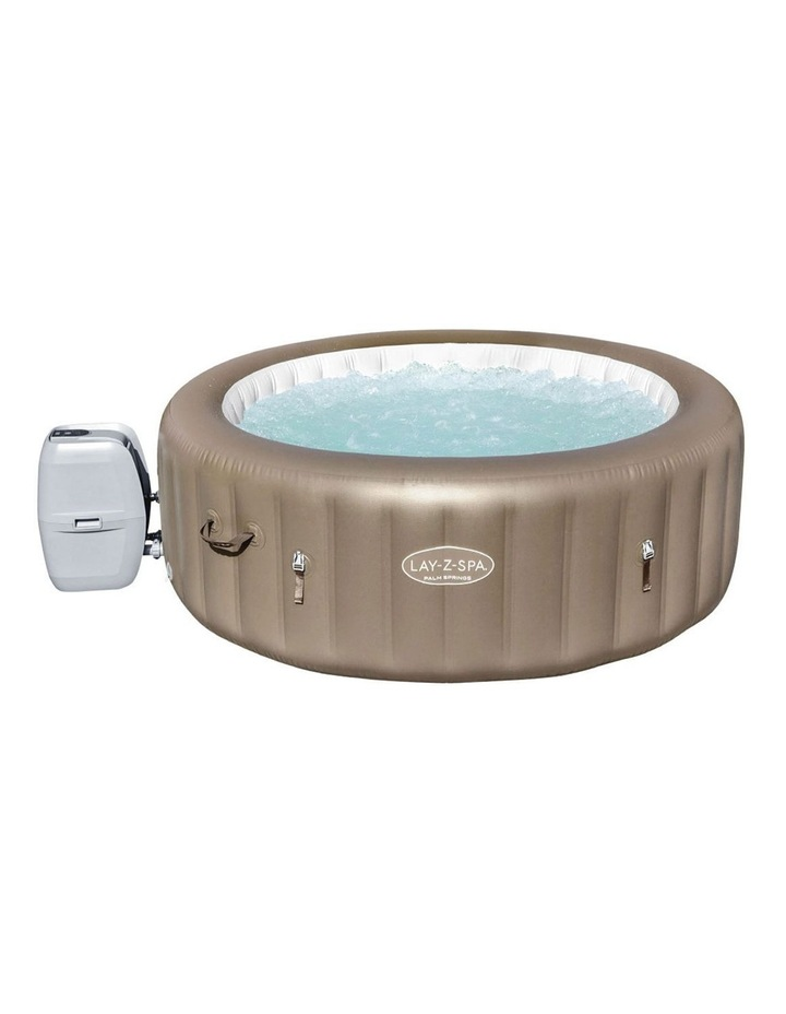 Inflatable Outdoor Spa Pool Brown image 1