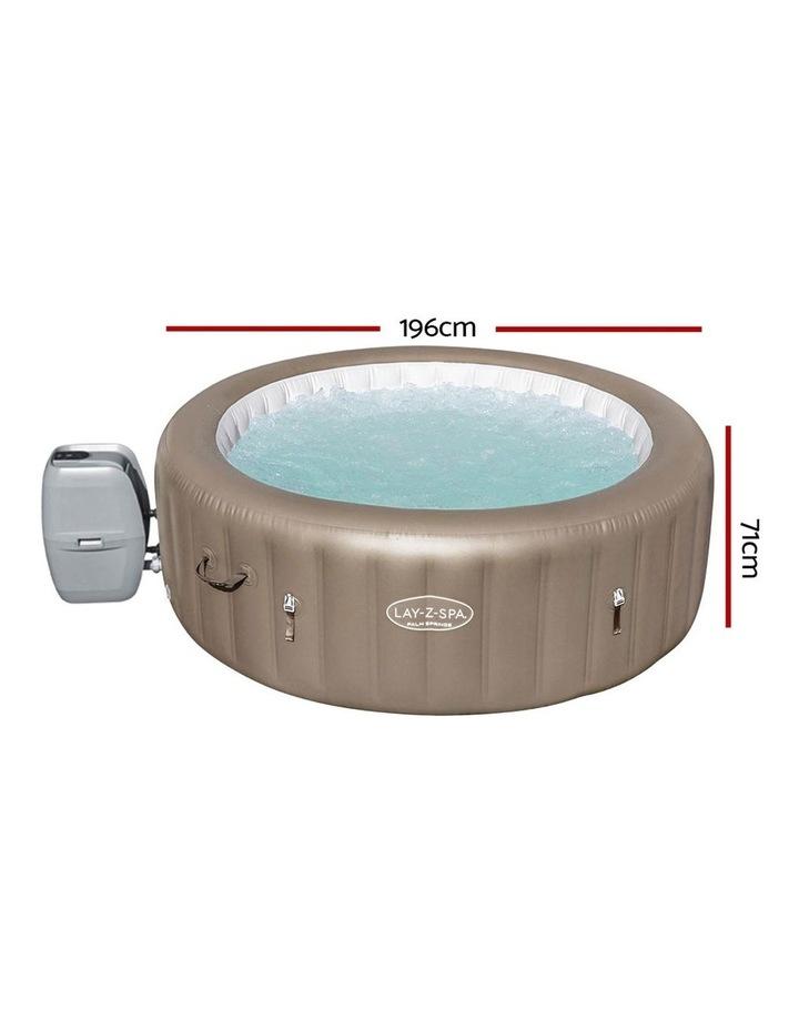 Inflatable Outdoor Spa Pool Brown image 2