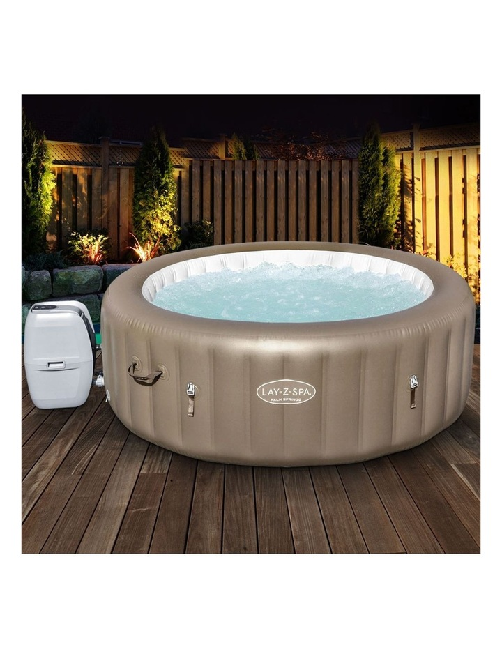 Inflatable Outdoor Spa Pool Brown image 3