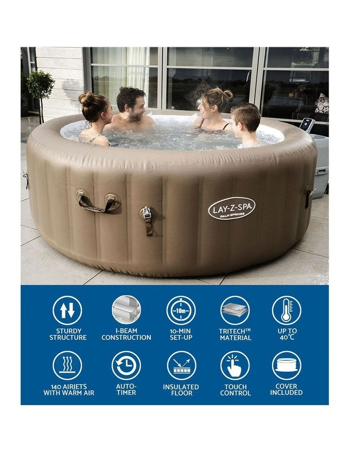 Inflatable Outdoor Spa Pool Brown image 4