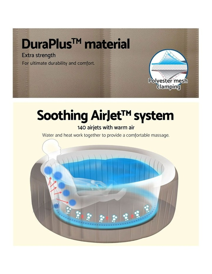 Inflatable Outdoor Spa Pool Brown image 5