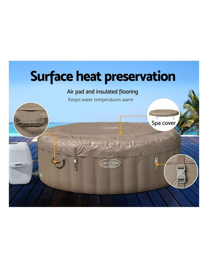 Inflatable Outdoor Spa Pool Brown image 7
